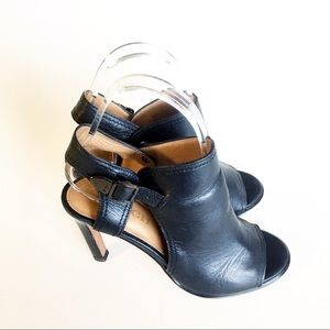Coach Black Leather Heels Iona 6 Ankle Open Toe 6
